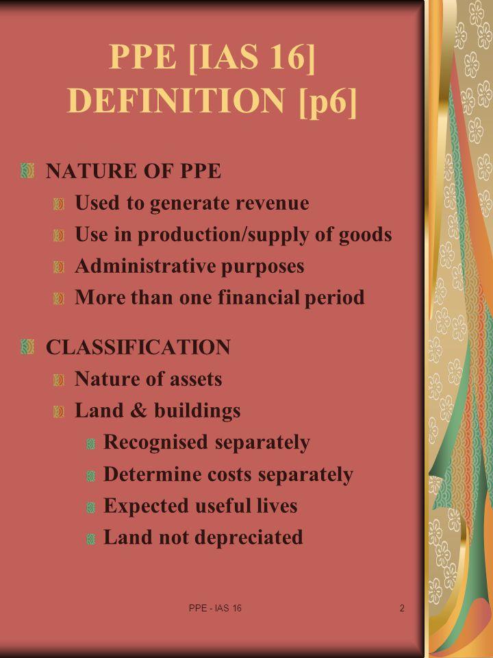 PPE [IAS 16] DEFINITION [p6]